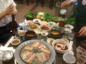 韓国での食事